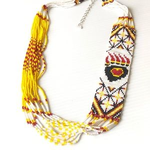Stunning Tribal Necklace Bear Paw Love 🐻 🐾